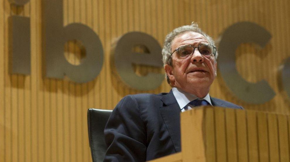 El presidente de Telefónica, César Alierta, durante la conferencia...