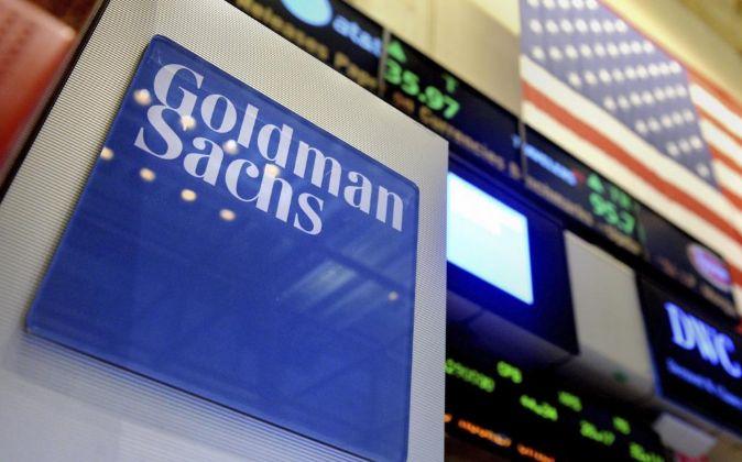 Imagen del logo de Goldman Sachs en la Bolsa de Nueva York