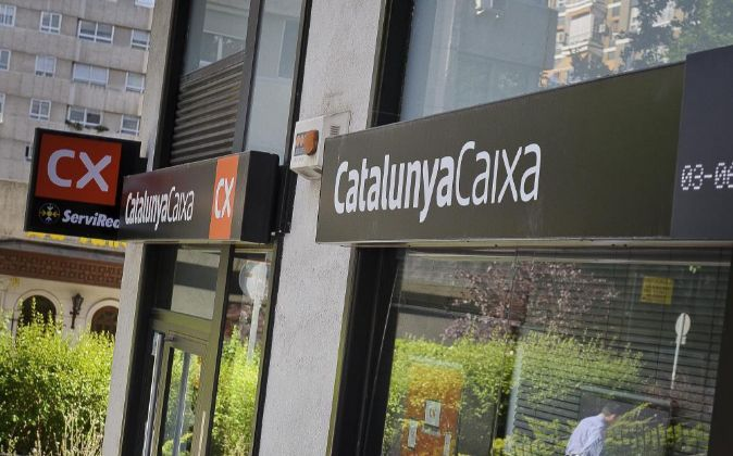 Oficina de CatalunyaCaixa en Madrid.