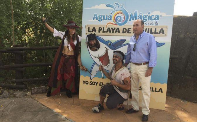 Guillermo Cruz, director de Isla Mágica, durante la presentación de...