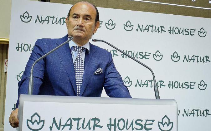 Félix Revuelta, presidente de Naturhouse, durante la salida a Bolsa...