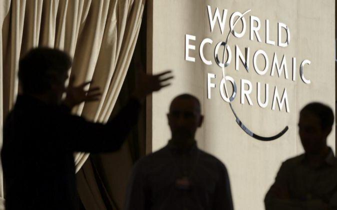 Vista del interior del centro de conferencias de Davos.
