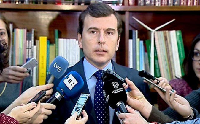 Imagen del secretario de Estado de Medio Ambiente y presidente de...