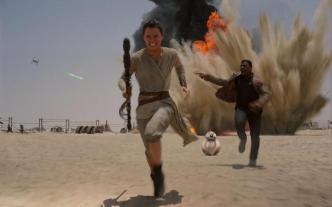 Fotograma de la película Star Wars: El despertar de la fuerza.
