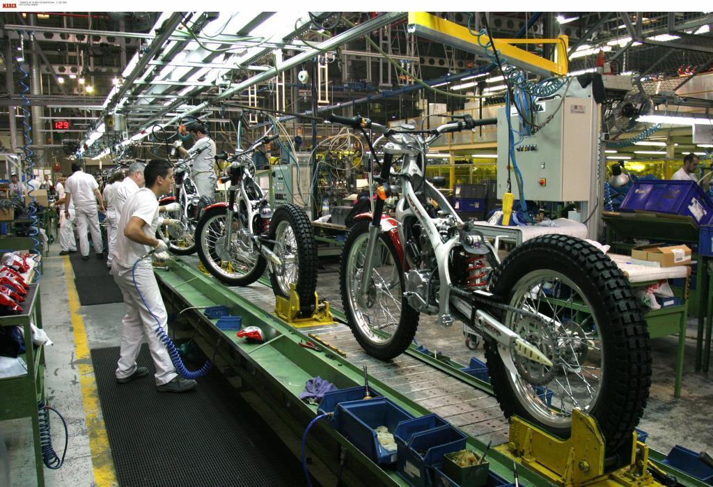 Fábrica de motocicletas de Honda en Santa Perpètua de Mogoda...