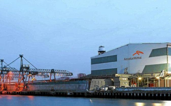 Planta de ArcelorMittal en Sestao.