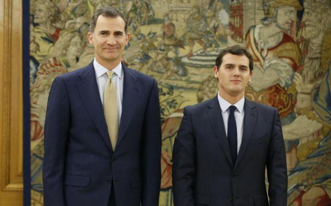 El Rey Felipe recibe al presidente de Ciudadanos, Albert Rivera, en el...