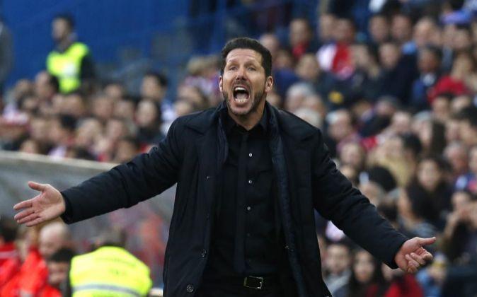 El entrenador argentino del Atlético de Madrid, Diego Pablo Simeone.