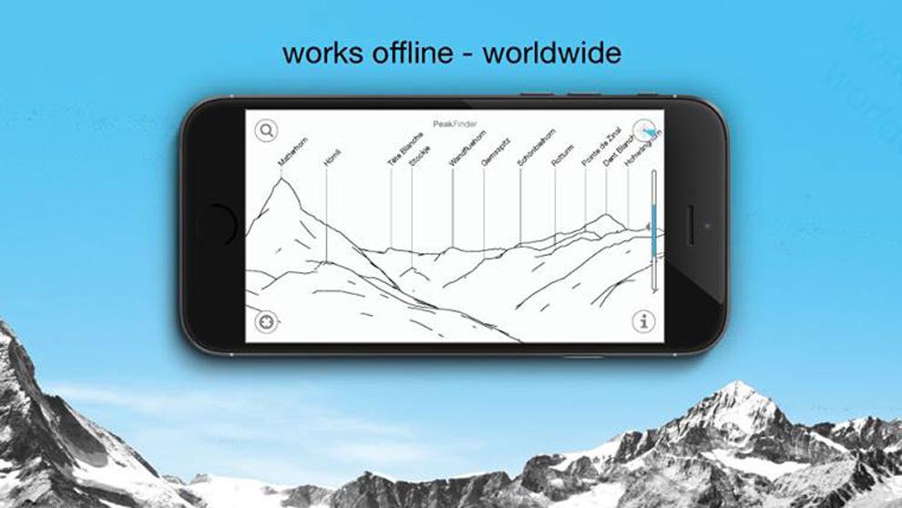La aplicación PeakFinder te permite conocer el nombre de los picos...