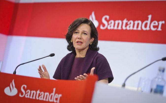Ana Patricia Botín, presidenta de Santander, en la presentación de...