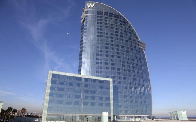 El Hotel W Barcelona.