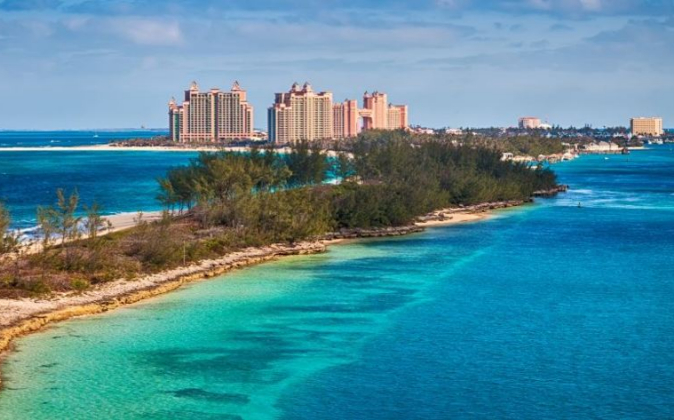 Nassau, la capital de Bahamas, situada en la isla New Providence del...