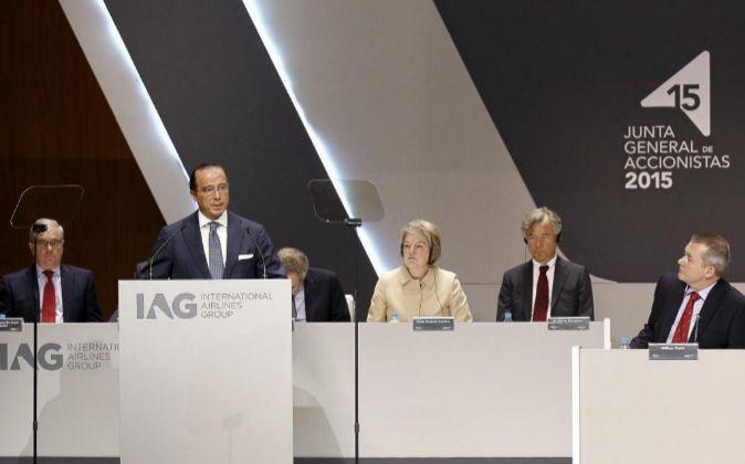 Junta de accionistas de IAG.