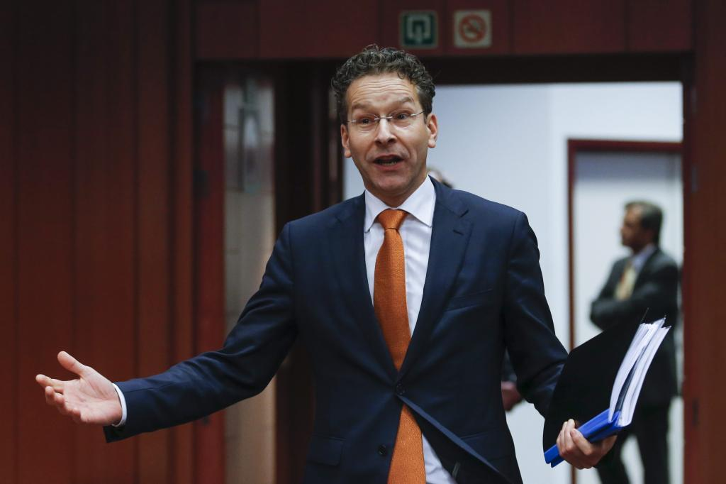 El presidente del Eurogrupo, Jeroen Dijsselbloem, durante una reunión...