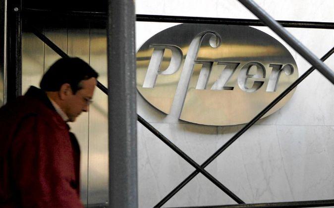 Logo de la farmacéutica Pfizer.