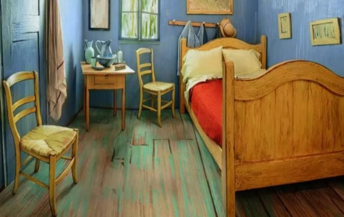 <strong>Esta imagen no es del cuadro de Van Gogh ni de una...