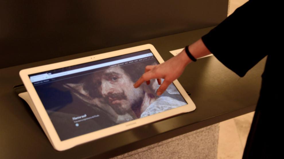 Punto de acceso web en el Museo de Prado.