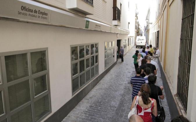 Una oficina de empleo en Sevilla. Archivo.