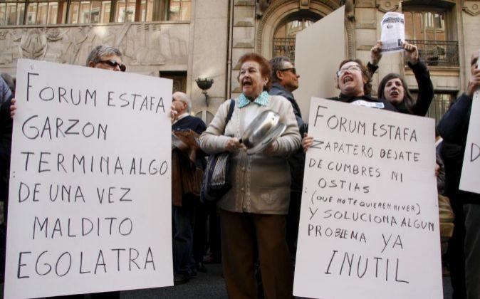 Una protesta de 2008 contra la intervención de Fórum y Afinsa