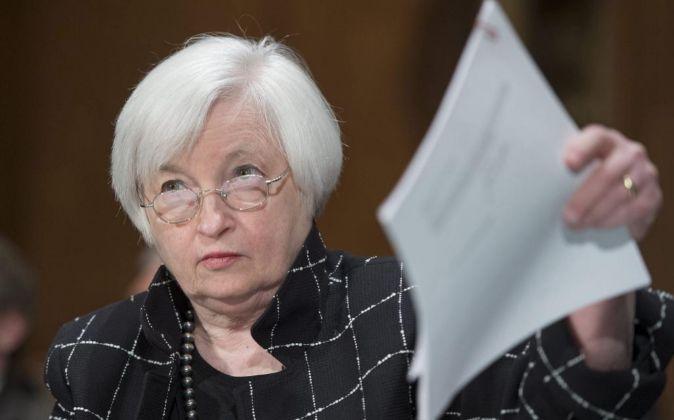 La presidenta de la Reserva Federal (Fed), Janet Yellen.