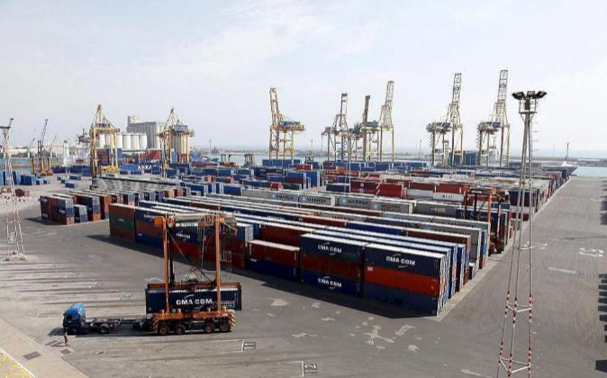 Terminal de contenedores TCB en el Puerto de Barcelona