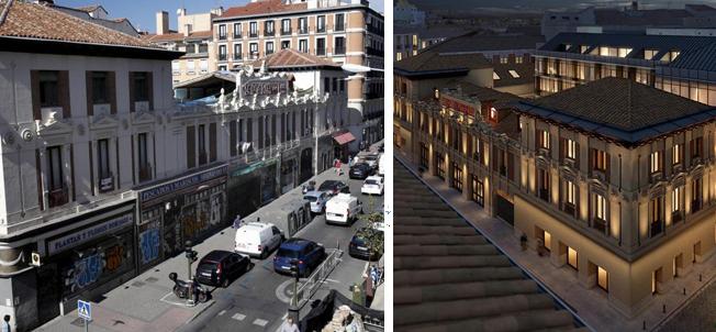 En la imagen el edificio Lamarca, en la calle Fernando VI, en el...