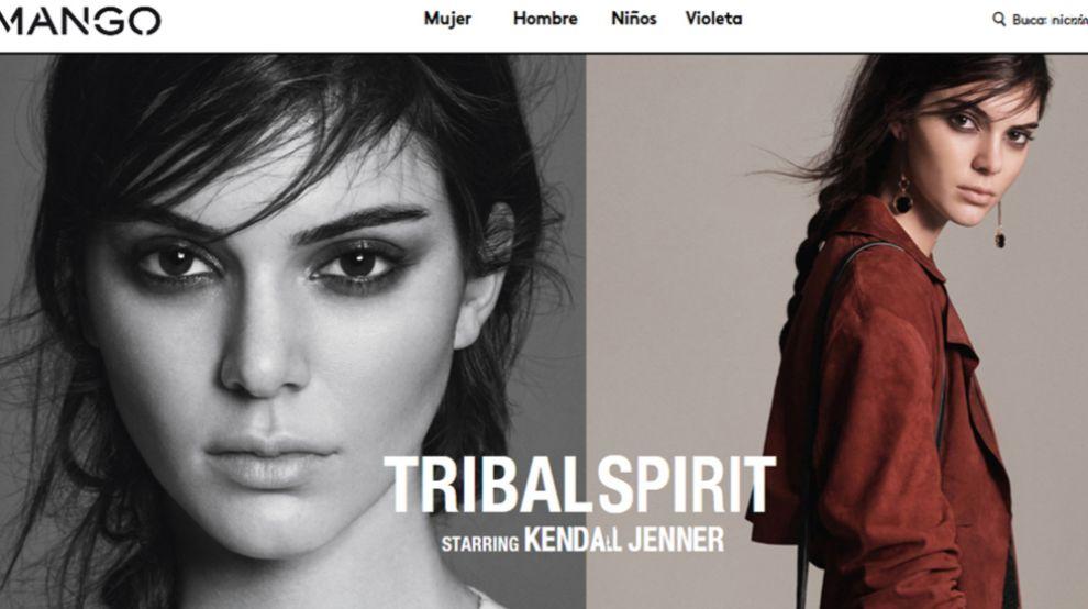 Imagen de la web de Mango, que muestra la nueva campaña de moda...