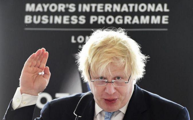 El alcalde de Londres Boris Johnson.