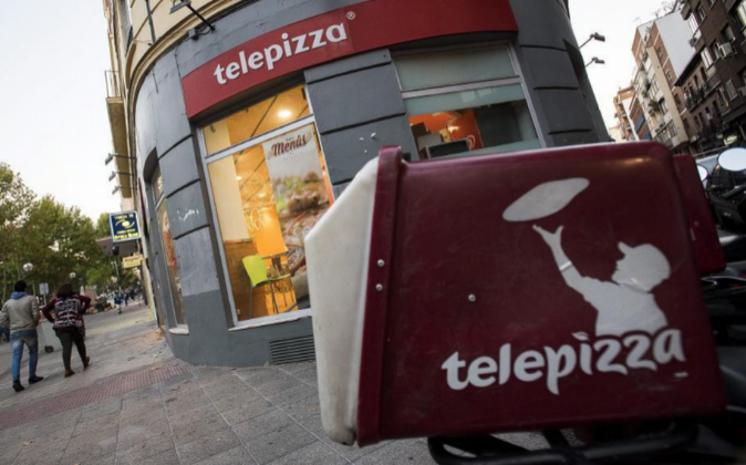 Local de Telepizza en Madrid.