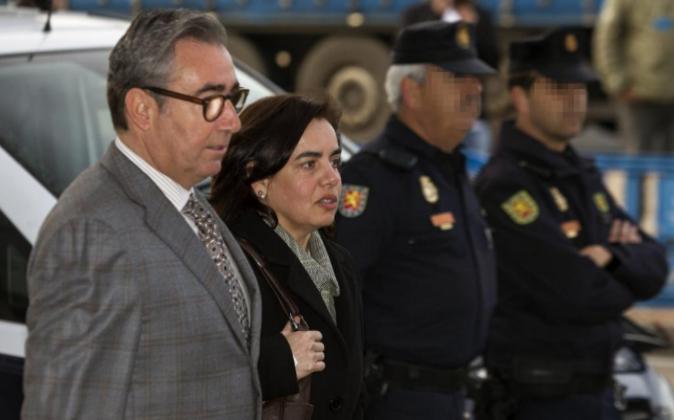 Diego Torres, ex socio de Iñaki Urdangarin, y su esposa, Ana Maria...