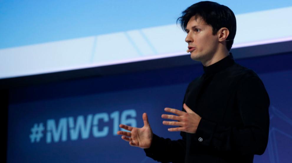 Pavel Durov, fundador y CEO de Telegram, durante su conferencia en el...