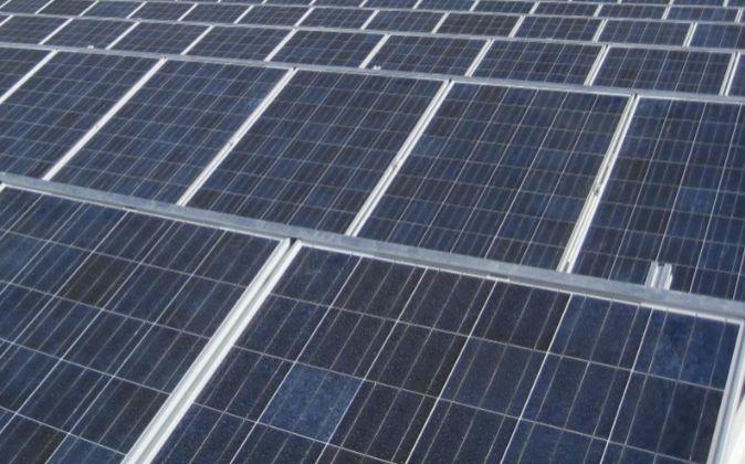 Paneles solares de una planta fotovoltaica.