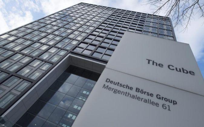 Vista general de la sede de Deutsche Boerse en Eschborn (Alemania)