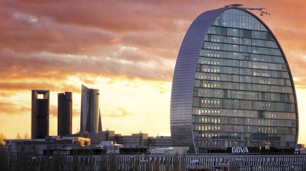Edificio La Vela, sede del BBVA en Madrid