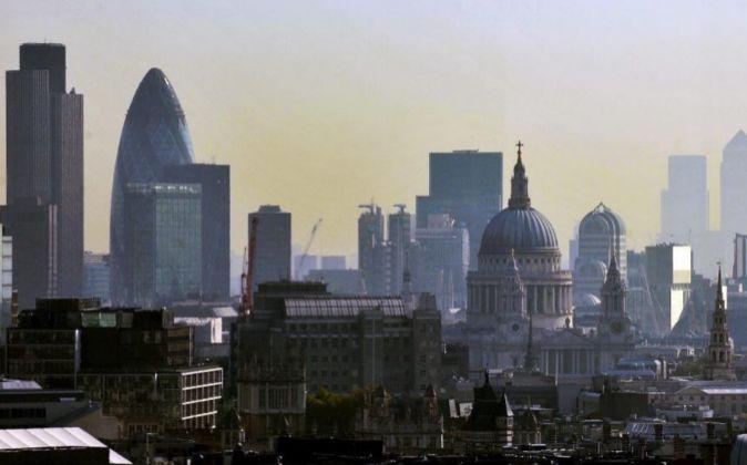 Vista del barrio financiero de Londres.
