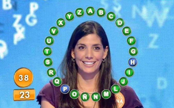 """Fotograma del concurso """"Pasapalabra"""", emitido por Telecinco."""