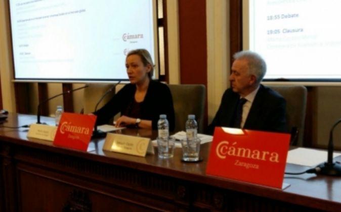 La consejera de Economía, Industria y Empleo del Gobierno de Aragón,...