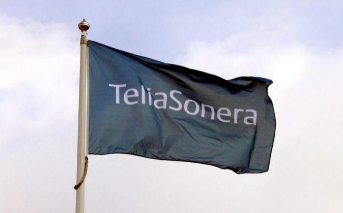Fotografía facilitada por Telia Sonera que muestra su logotipo en la...