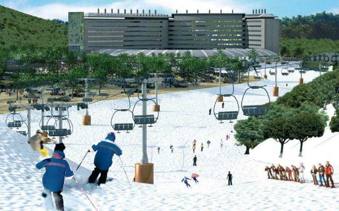 Uno de los hoteles, el de Los Alpes, preveía pistas de nieve...