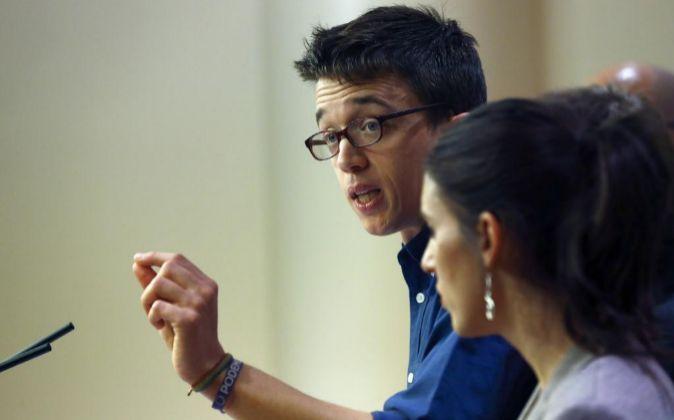 El portavoz de Podemos, Íñigo Errejón