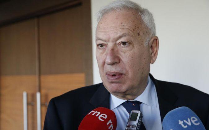 El ministro español de Asuntos Exteriores en funciones José Manuel...