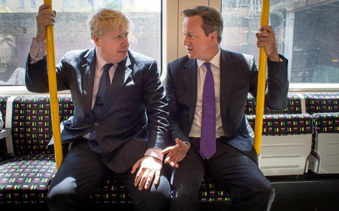 Boris Johnson y David Cameron.
