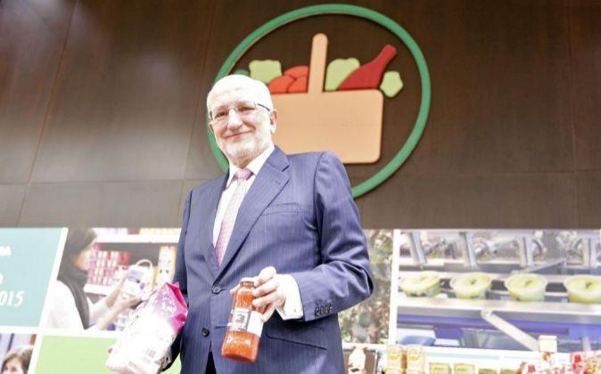 El presidente de Mercadona, Juan Roig, antes de la presentación de...