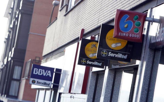 Sucursales bancarias en Madrid.