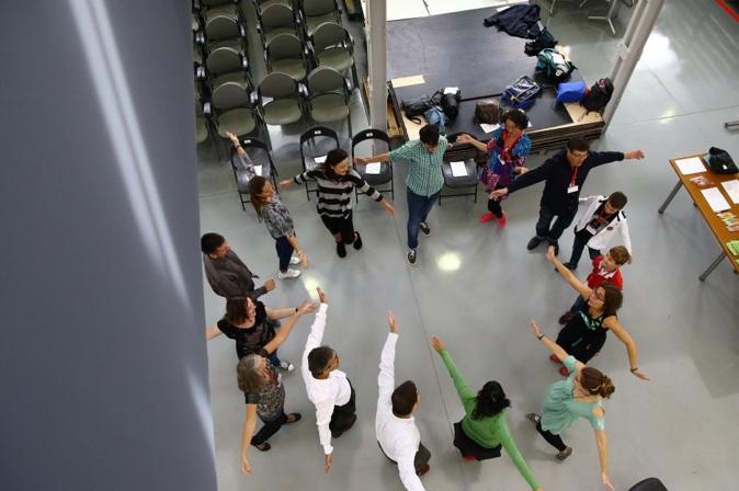 Una clase de teatro aplicado en el TEDxValladolid en 2013.