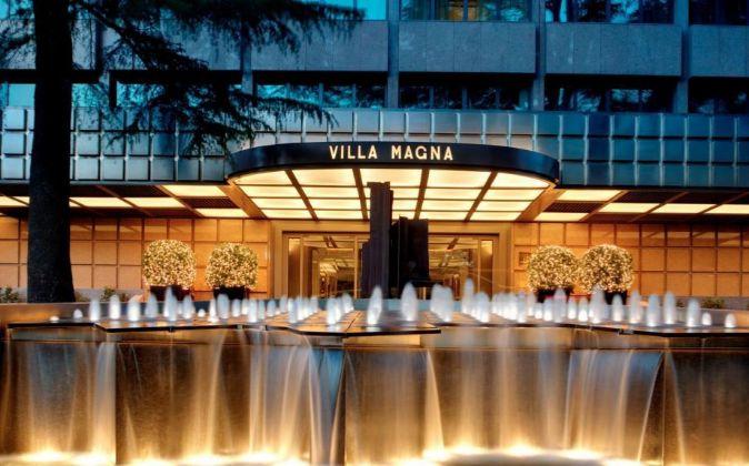 Hotel Villa Magna, en Madrid, por el que el grupo turco Dogus ha...