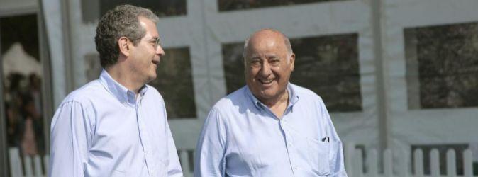 Pablo Isla junto a Amancio Ortega, el fundador de Inditex