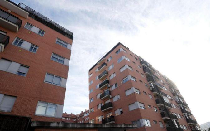 Bloque de viviendas en Villaverde, Madrid.