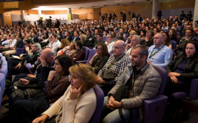 Accionistas de Bankia, durante la junta.
