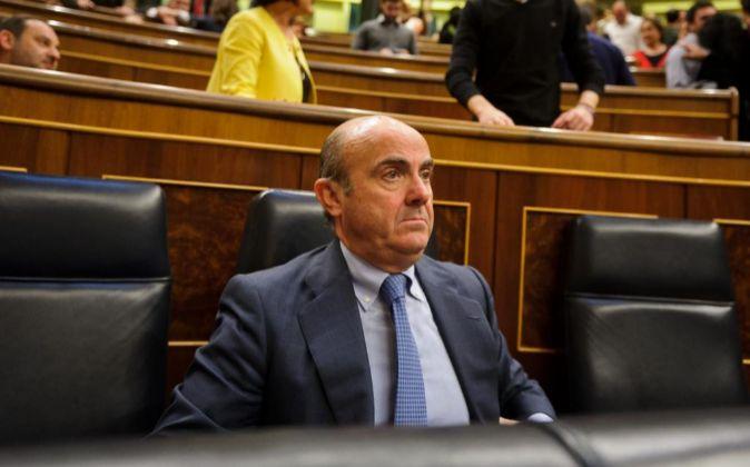 El ministro de Economía en Funciones, Luis de Guindos.
